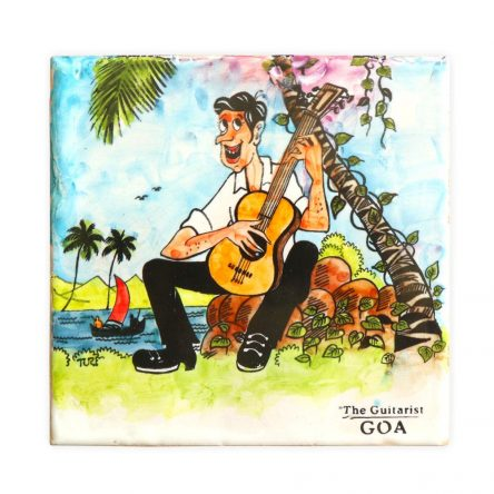 Goan Hand Painted Ceramic Tile