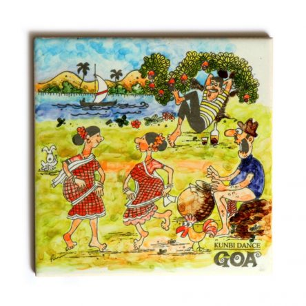 Famous Kunbi Dance Tile Painting