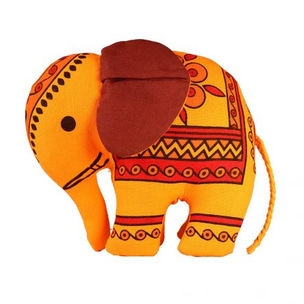 Handcrafted Stuffed Elephant (20 cm)