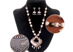 Boho Necklace with Earings